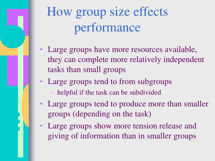 How group size effects performance