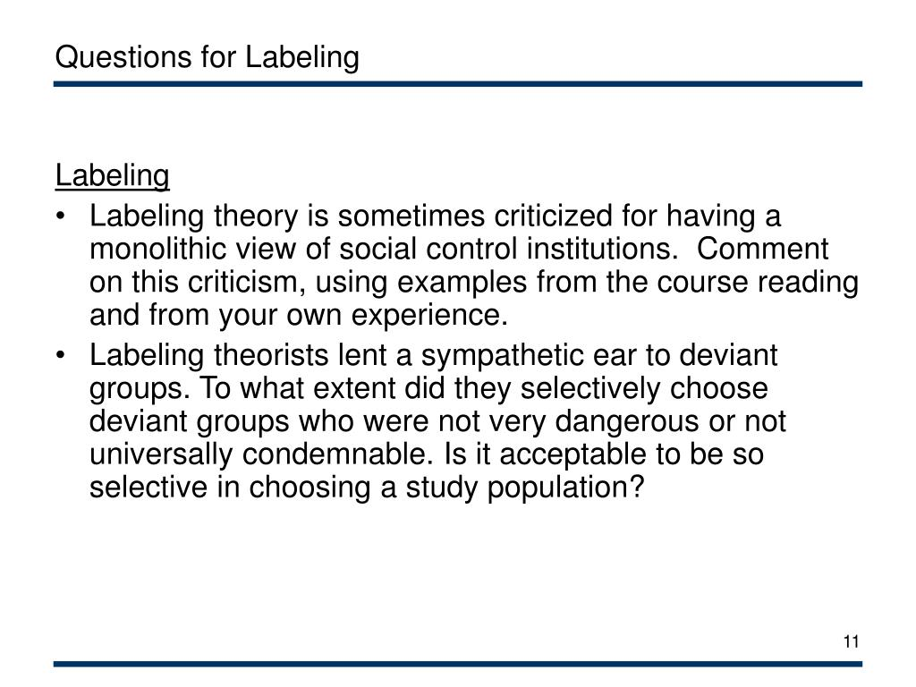 Questions for Labeling