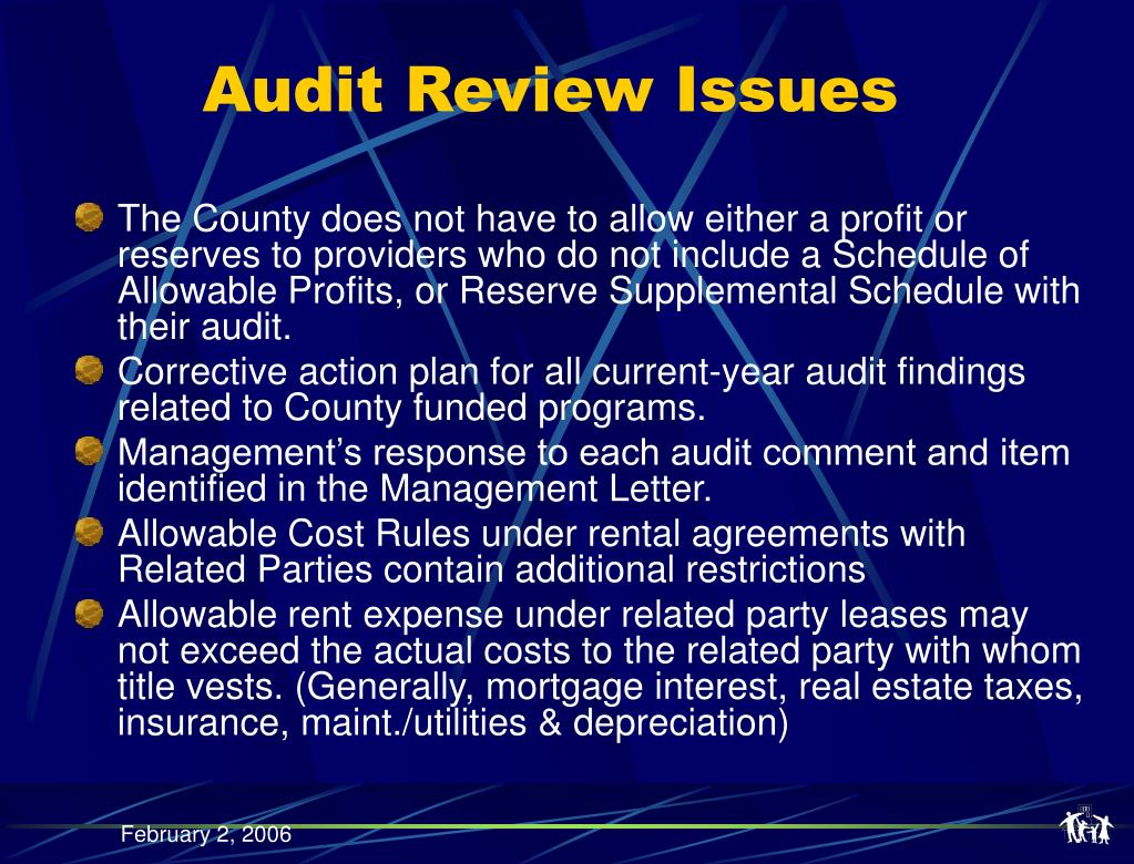 Audit Review Issues