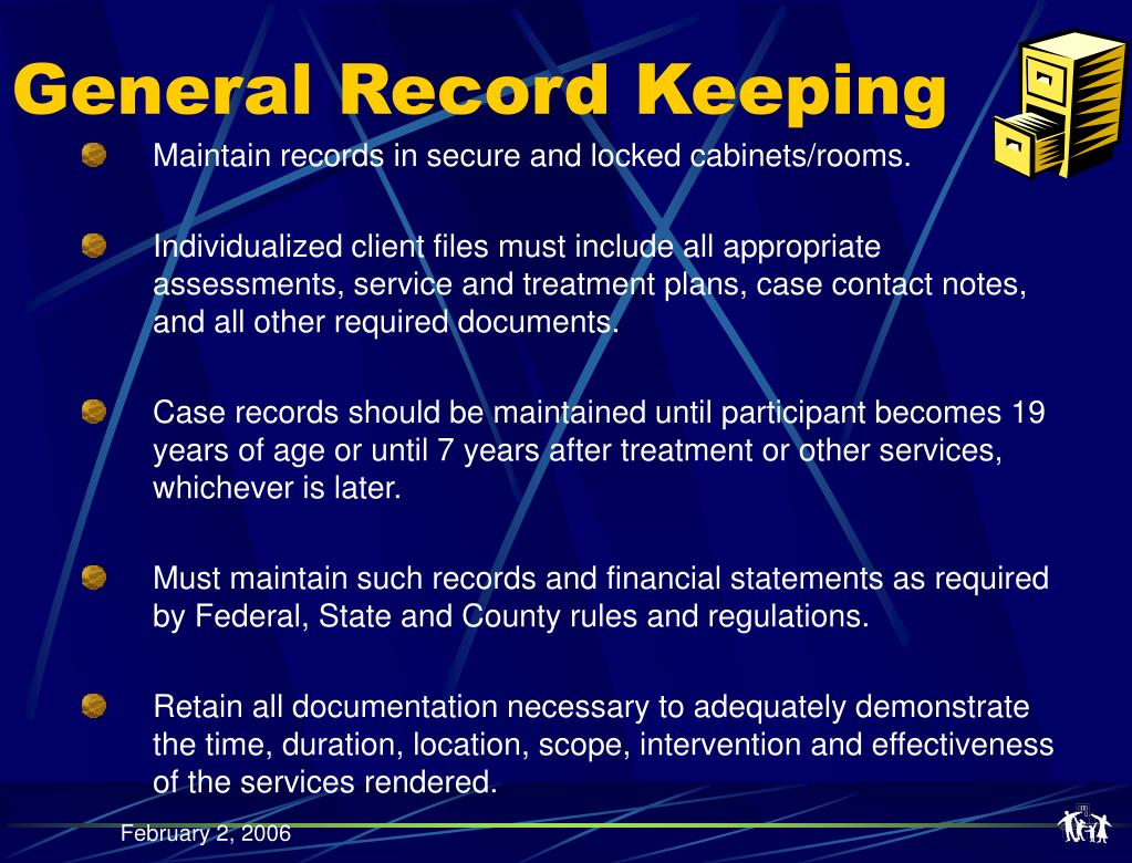 General Record Keeping