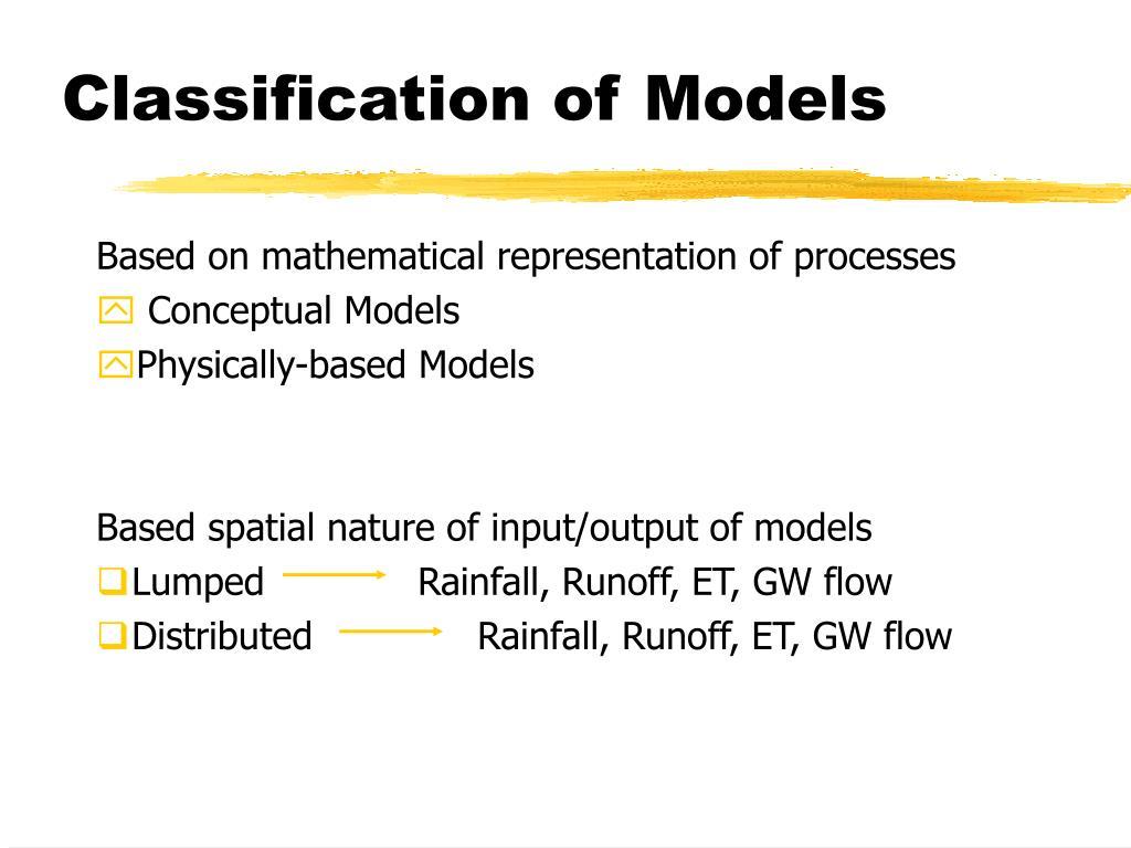 Classification of Models