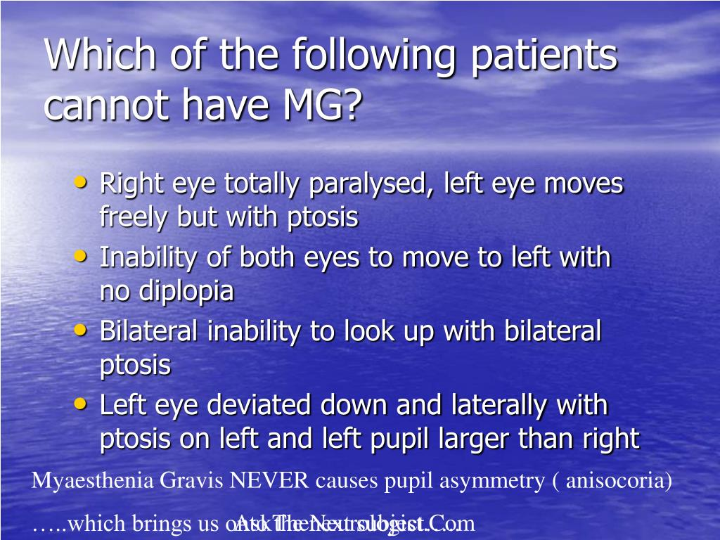 Which of the following patients cannot have MG?