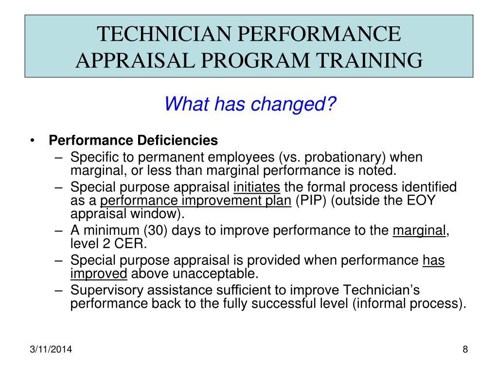 TECHNICIAN PERFORMANCE
