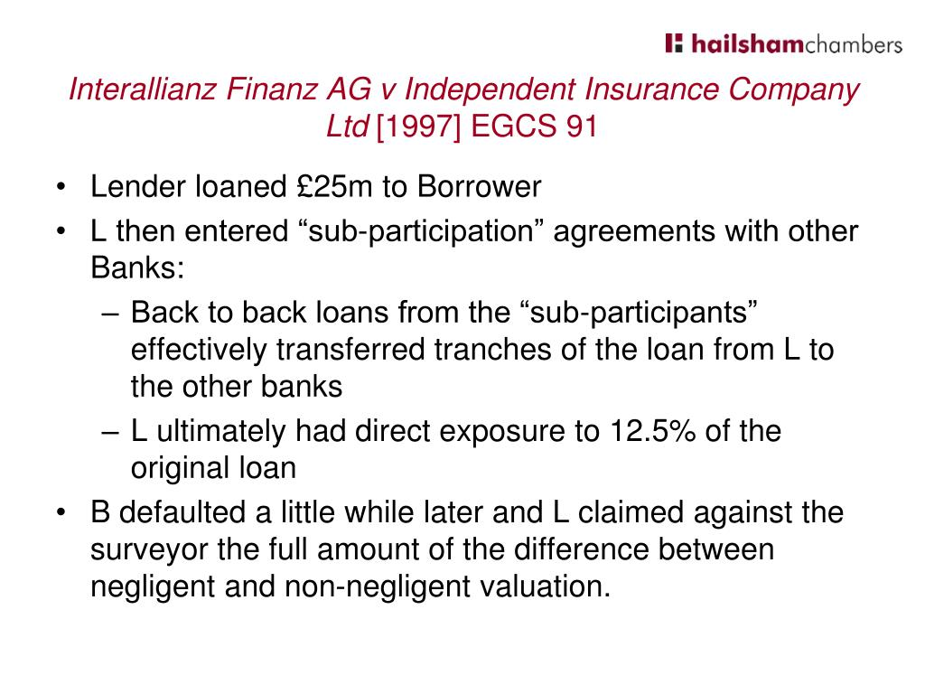 Interallianz Finanz AG v Independent Insurance Company Ltd