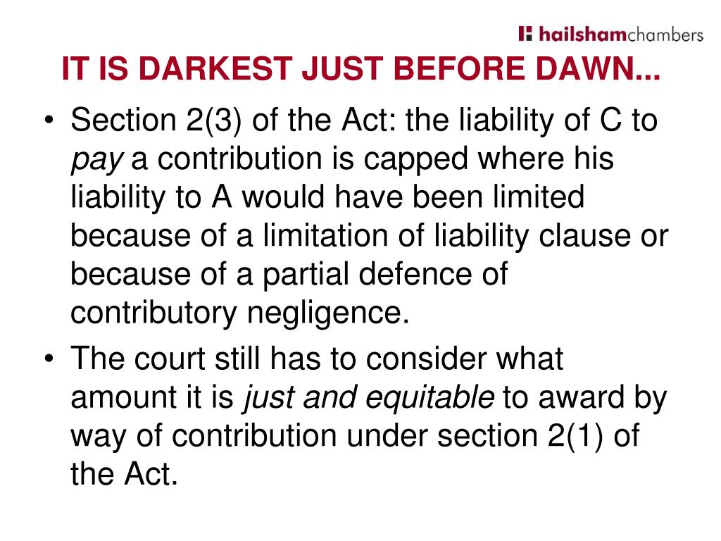 Section 2(3) of the Act: the liability of C to