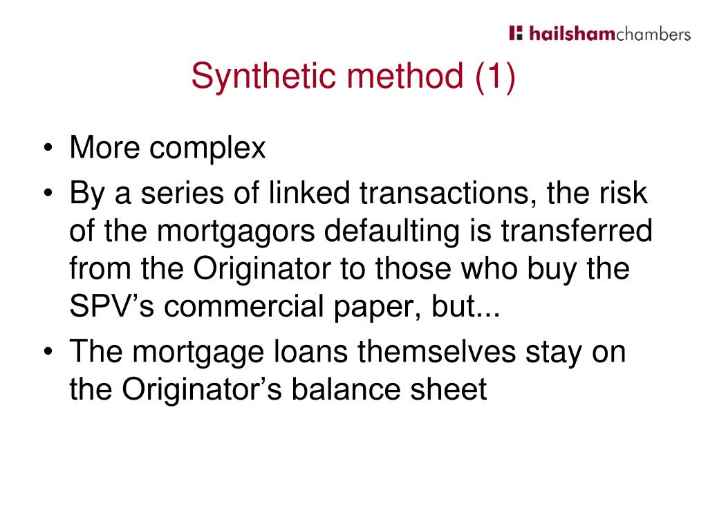 Synthetic method (1)