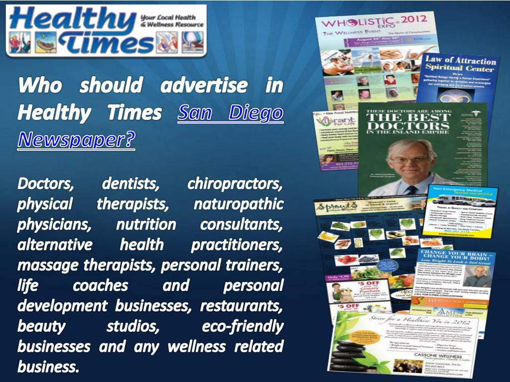 Who should advertise in Healthy Times