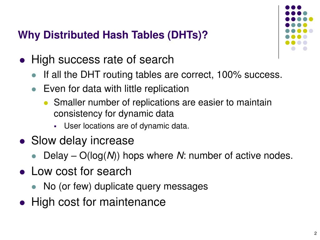 Why Distributed Hash Tables (DHTs)?