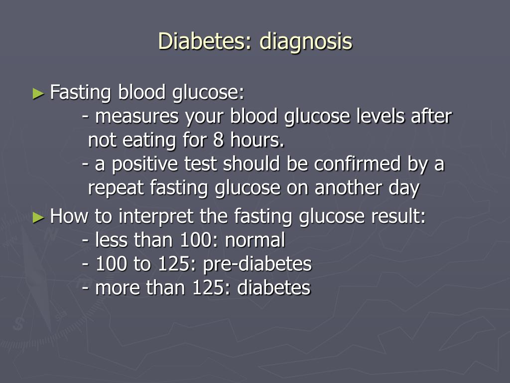 Diabetes: diagnosis