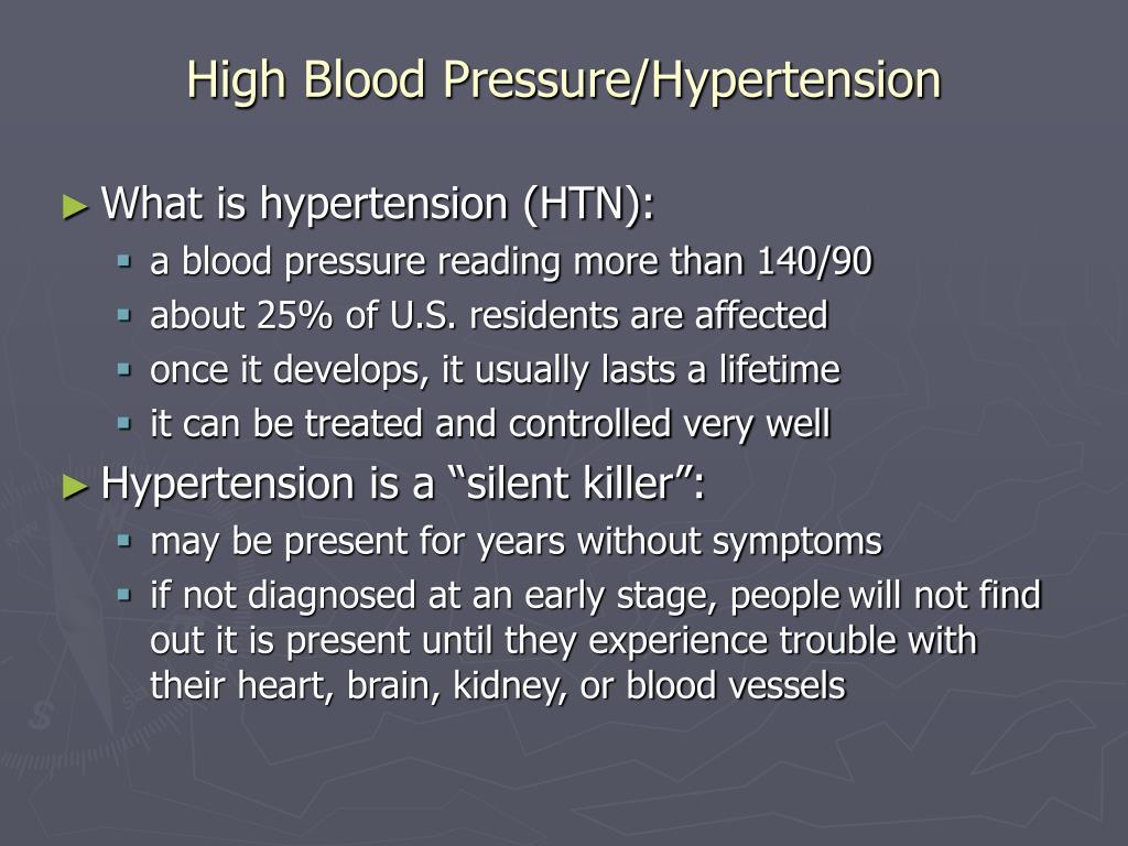 High Blood Pressure/Hypertension