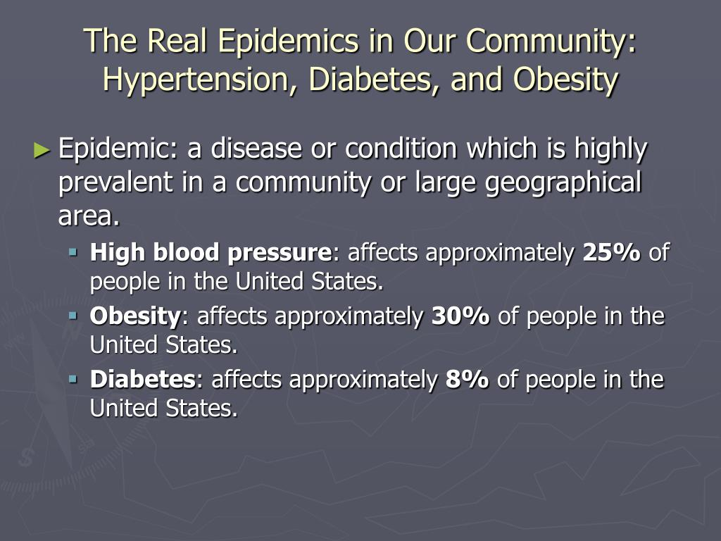 The Real Epidemics in Our Community: Hypertension, Diabetes, and Obesity