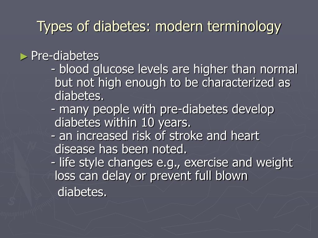 Types of diabetes: modern terminology