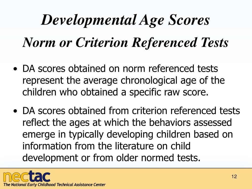 Developmental Age Scores