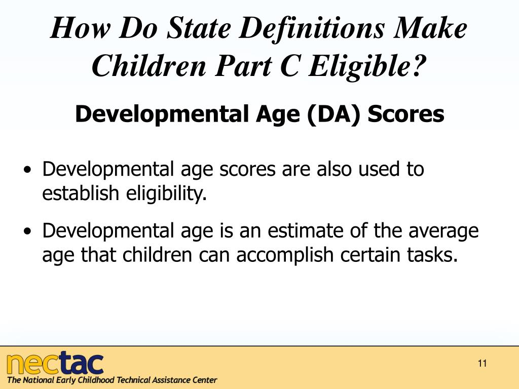 How Do State Definitions Make Children Part C Eligible?