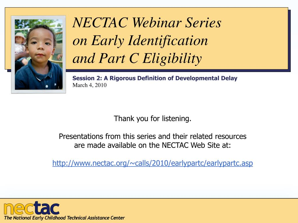 NECTAC Webinar Series