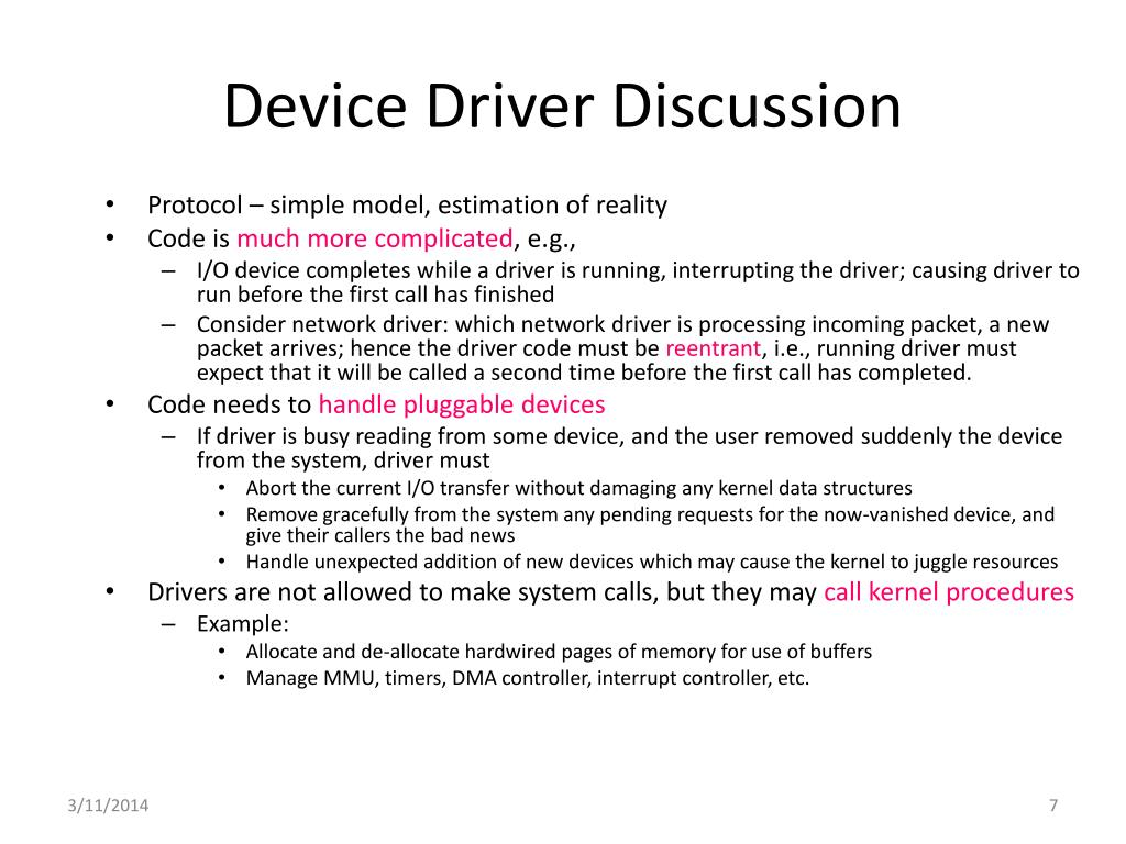 Device Driver Discussion