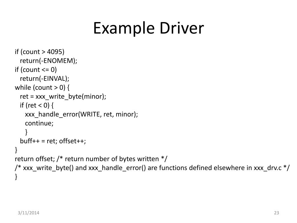 Example Driver