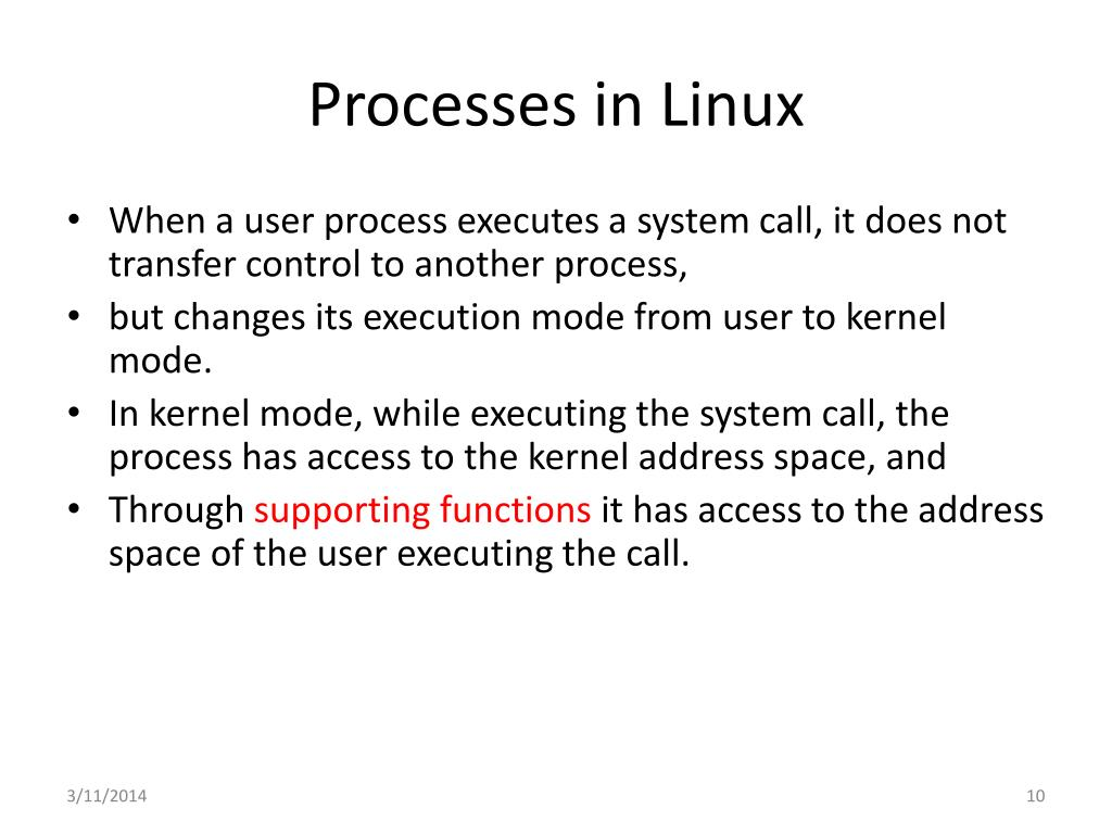 Processes in Linux