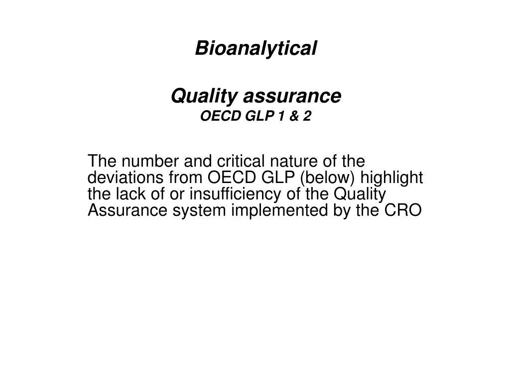 Bioanalytical