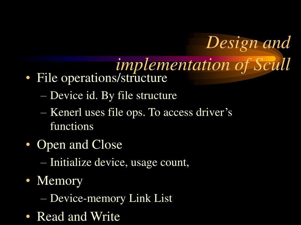 Design and implementation of Scull