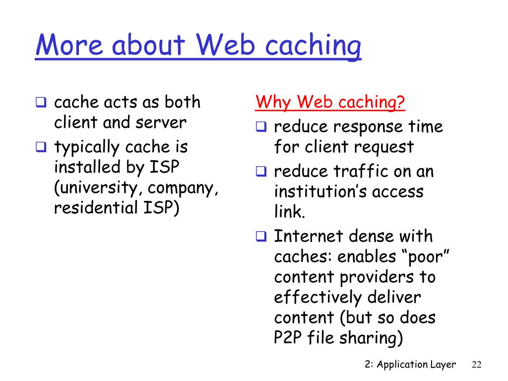 More about Web caching