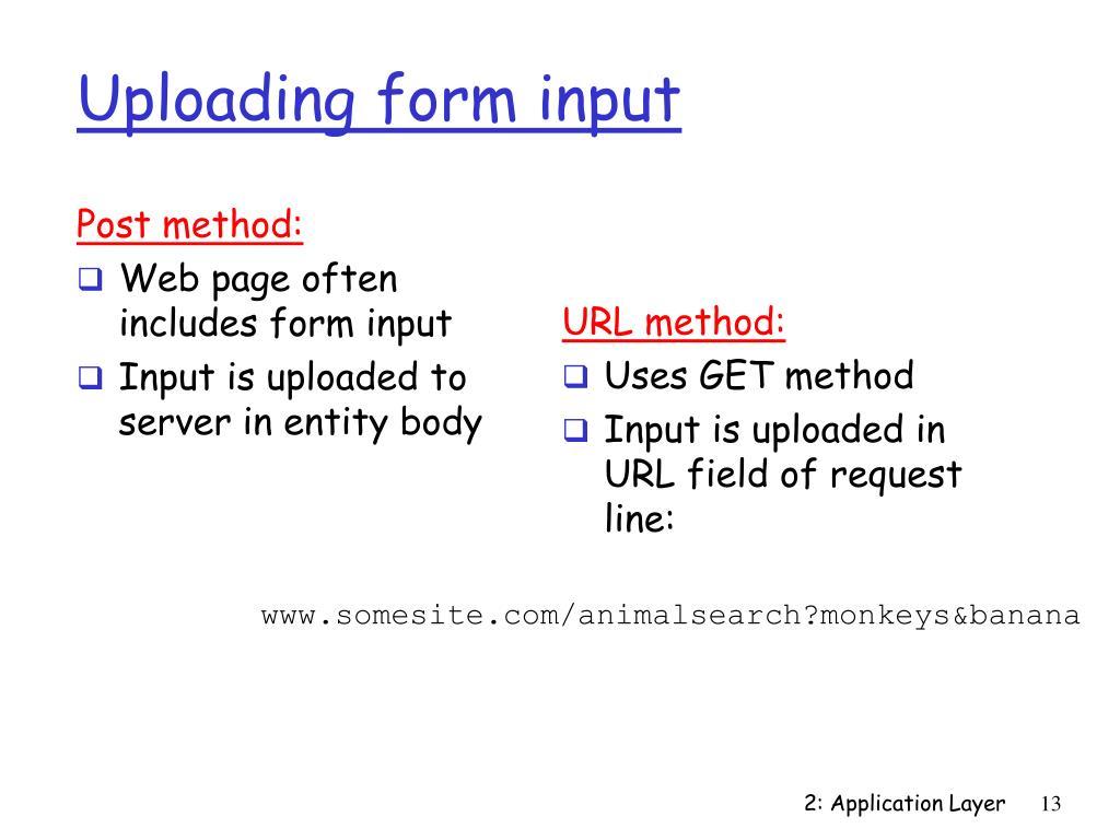 Uploading form input