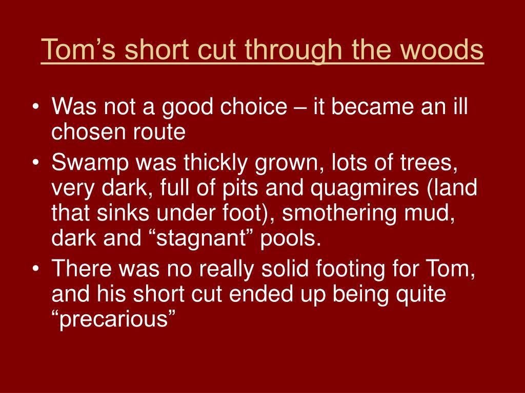 Tom's short cut through the woods