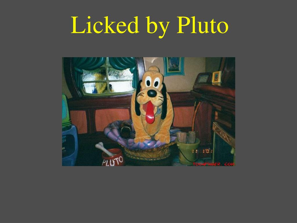 Licked by Pluto