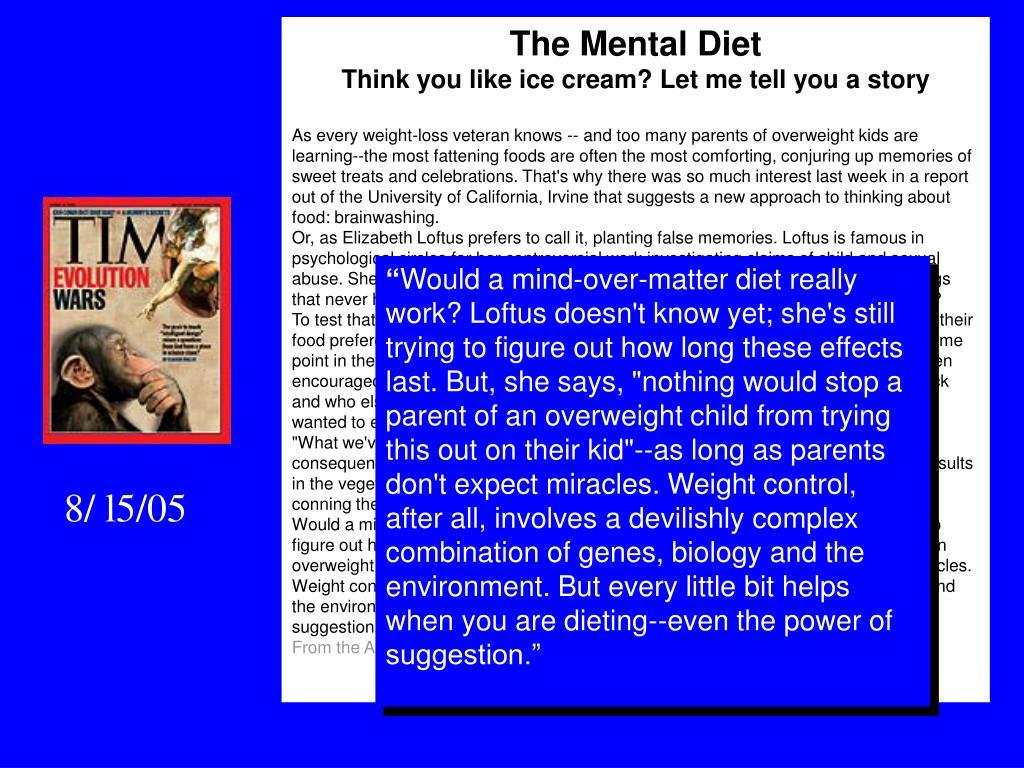 The Mental Diet