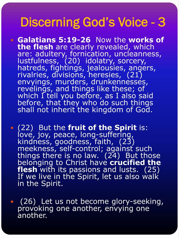 Discerning God's Voice - 3