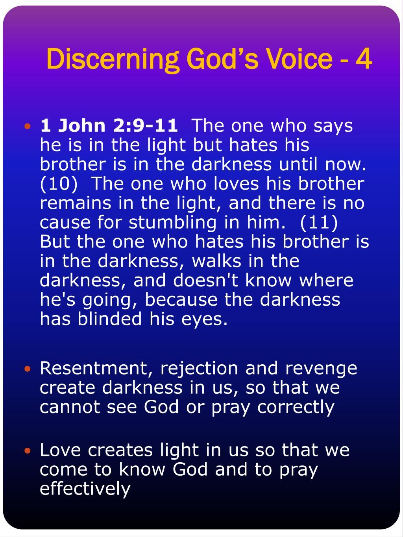 Discerning God's Voice - 4