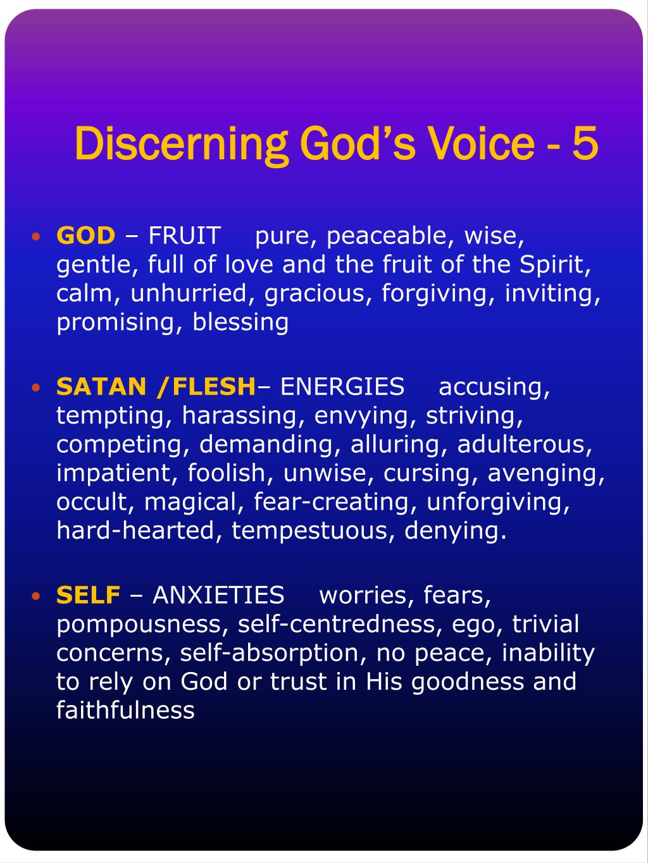 Discerning God's Voice - 5