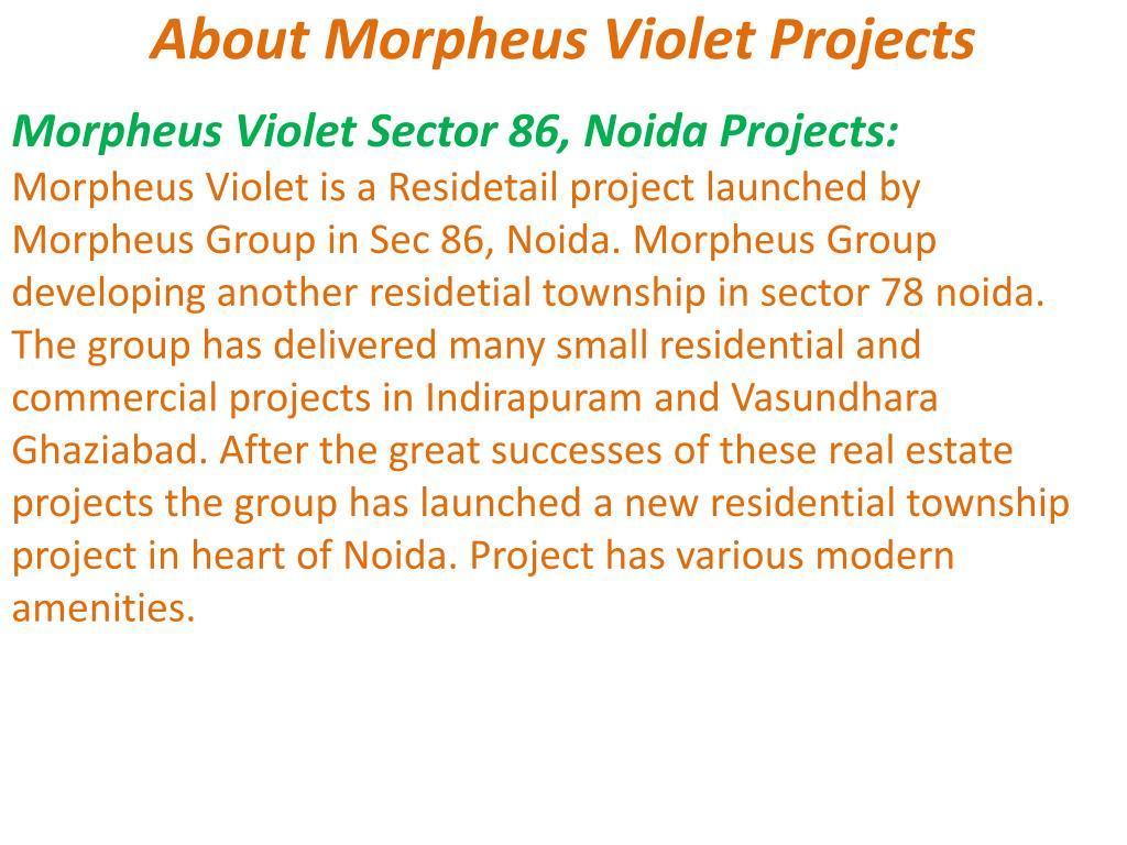 About Morpheus Violet Projects