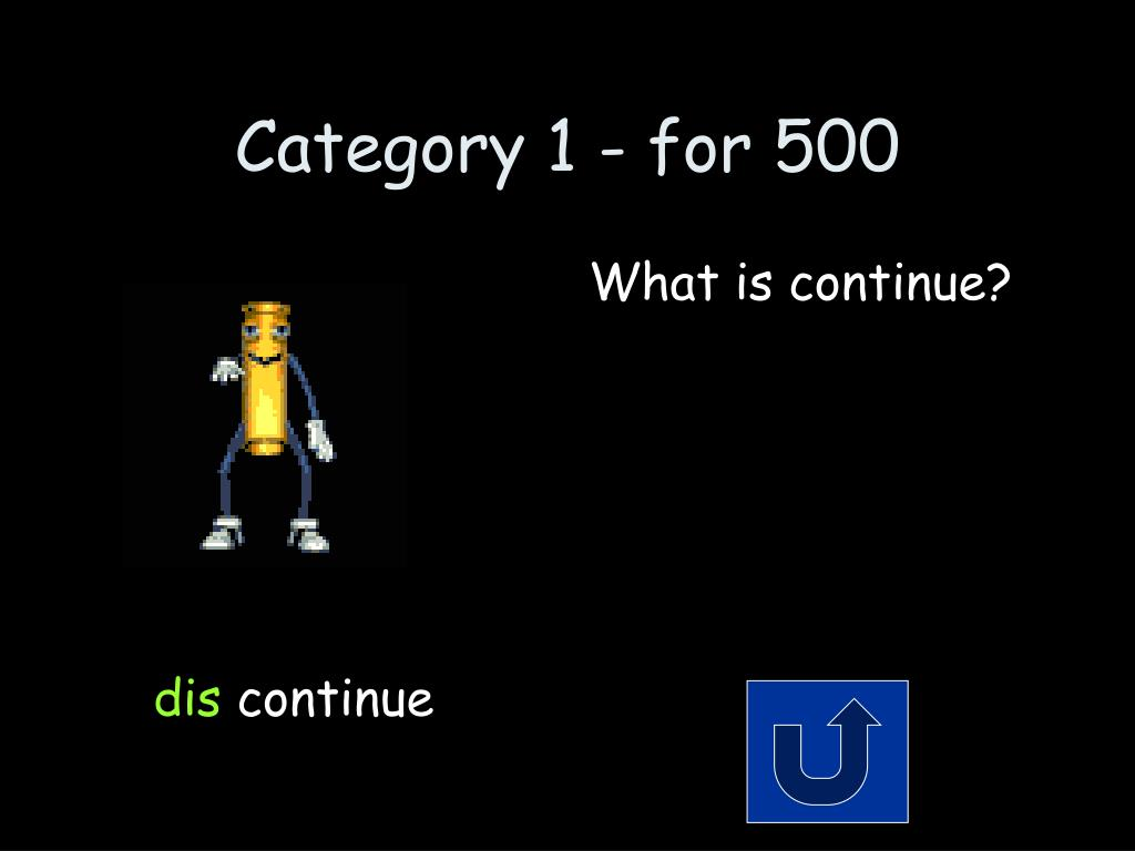 Category 1 - for 500