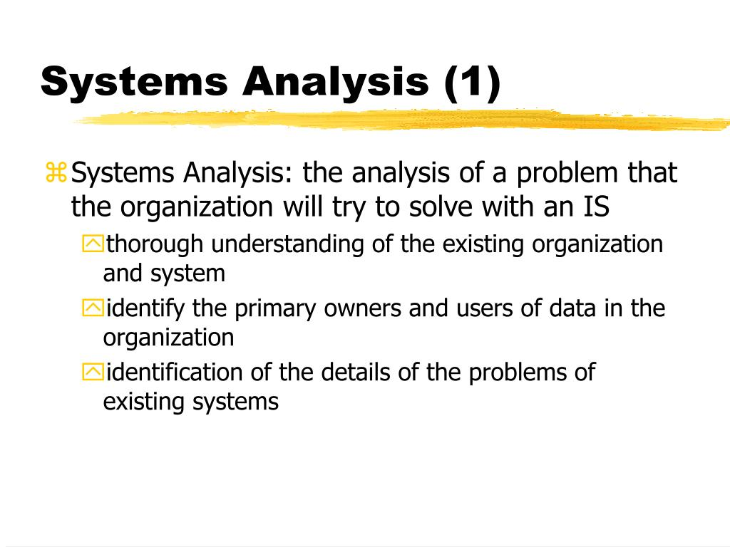 Systems Analysis (1)