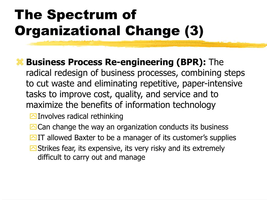 The Spectrum of Organizational Change (3)