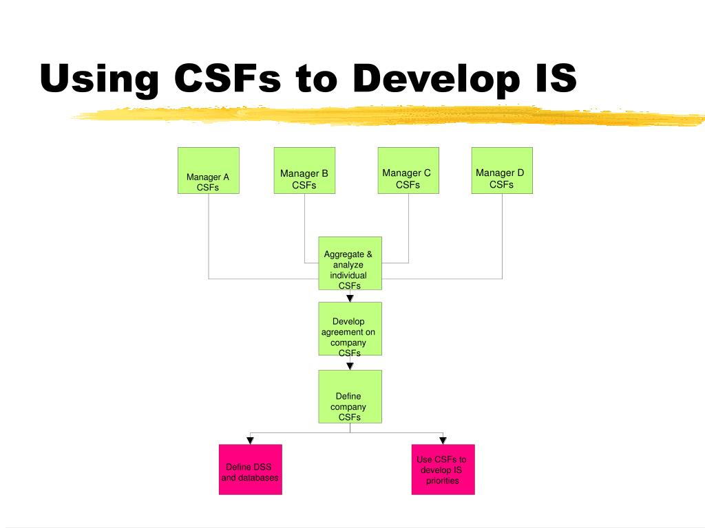 Using CSFs to Develop IS
