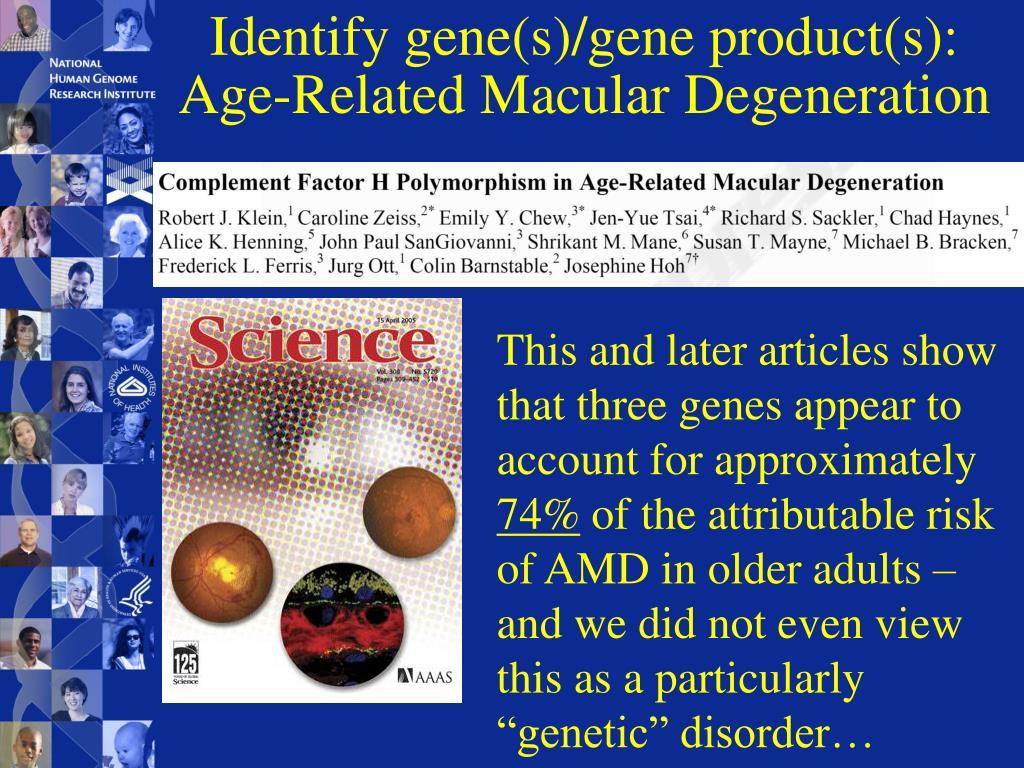 Identify gene(s)/gene product(s):