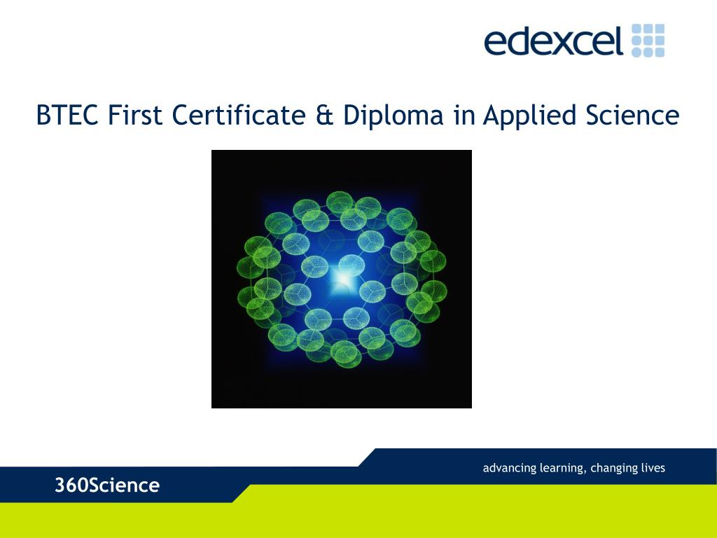 BTEC First Certificate & Diploma in Applied Science