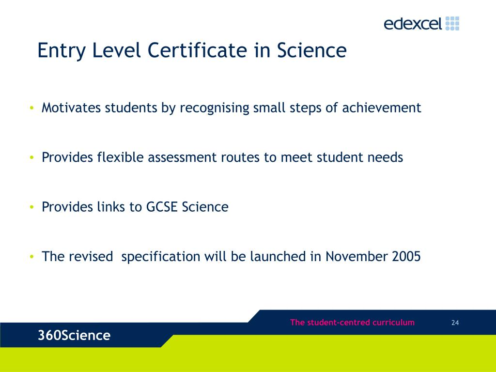 Entry Level Certificate in Science