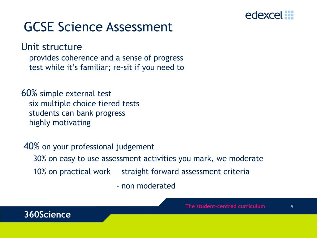 GCSE Science Assessment