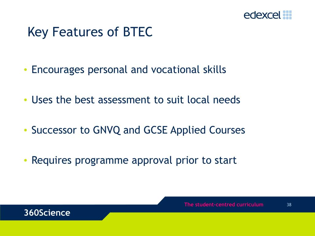 Key Features of BTEC