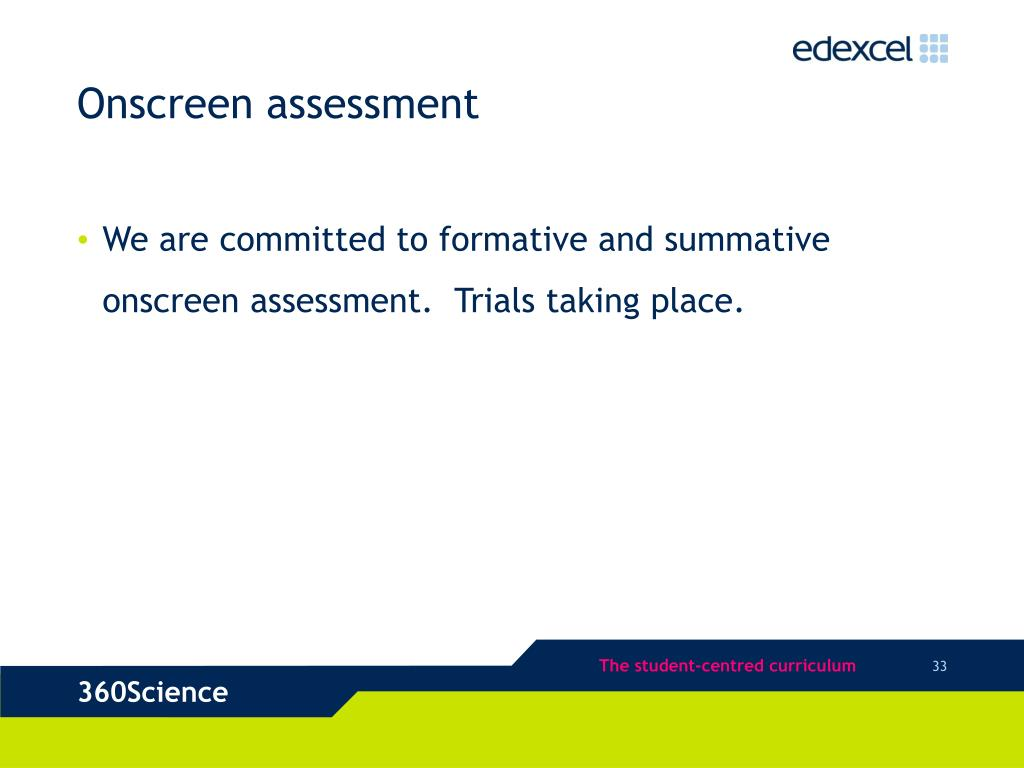 Onscreen assessment