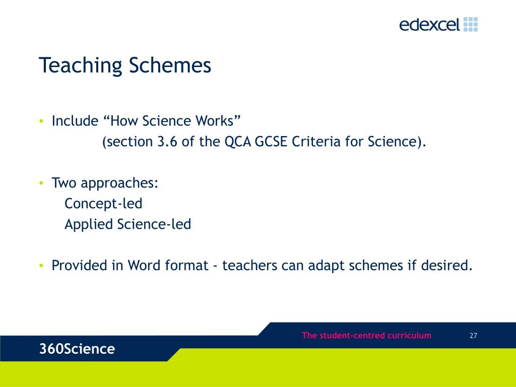 Teaching Schemes