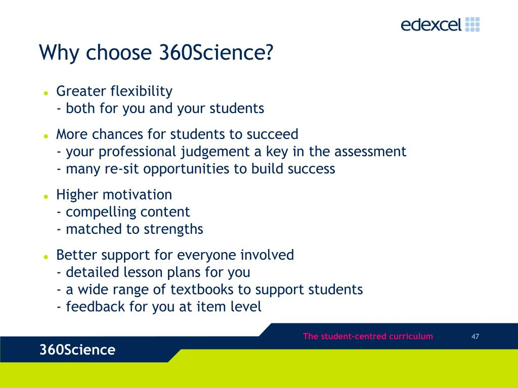 Why choose 360Science?