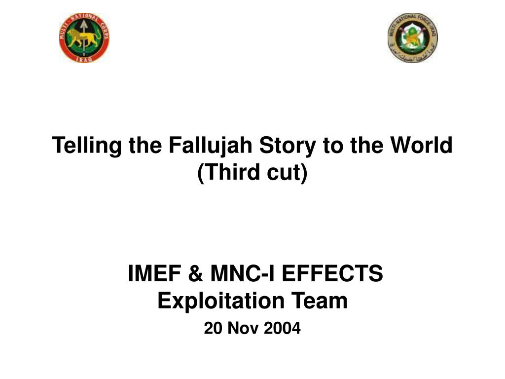 Telling the Fallujah Story to the World