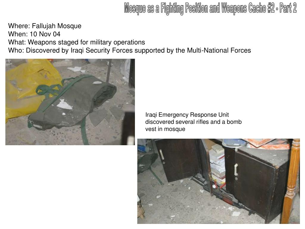 Mosque as a Fighting Position and Weapons Cache #2 - Part 2