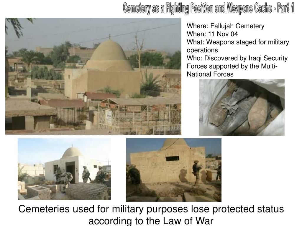 Cemetery as a Fighting Position and Weapons Cache - Part 1