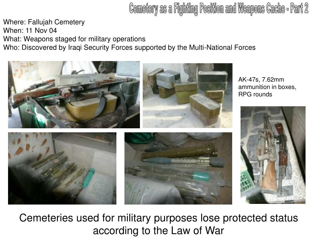 Cemetery as a Fighting Position and Weapons Cache - Part 2