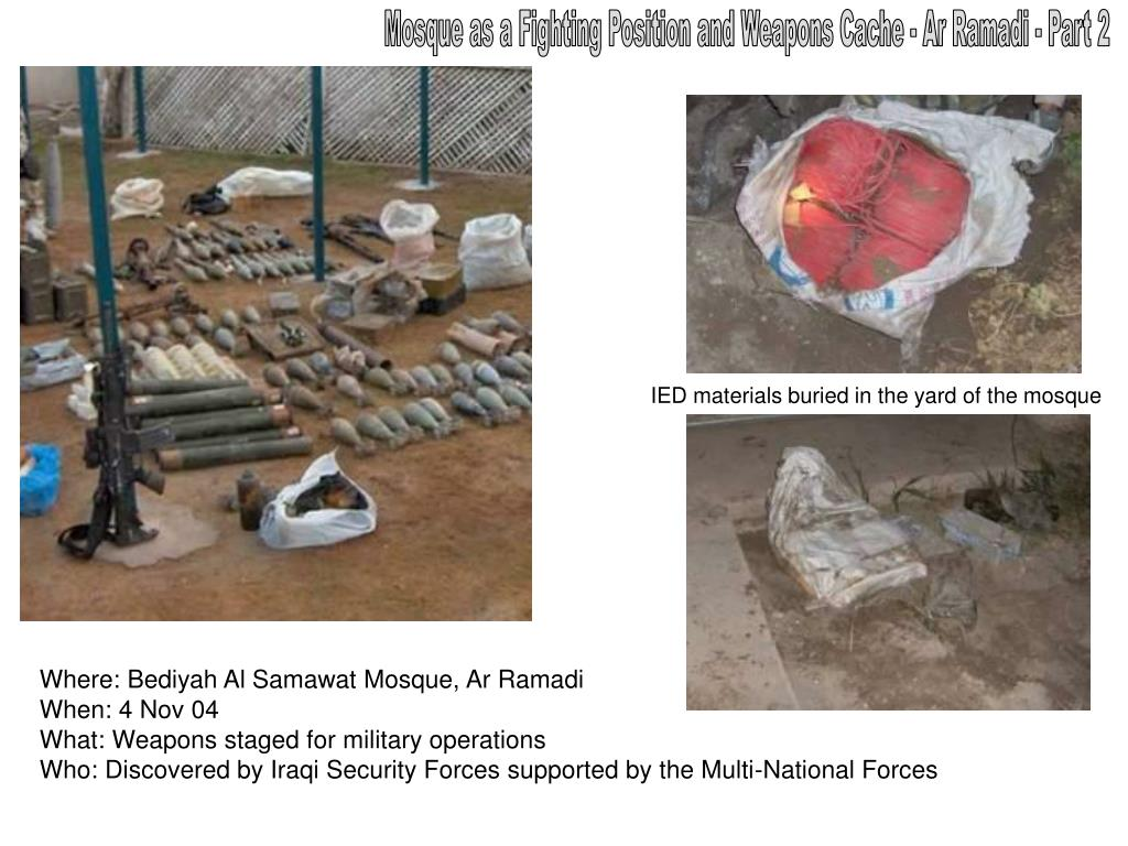 Mosque as a Fighting Position and Weapons Cache - Ar Ramadi - Part 2